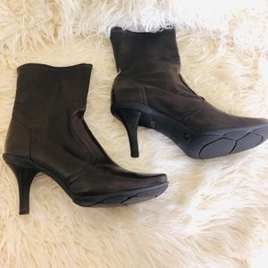 Gianni Bini Shoes - Gianni Bini | Leather Heel Boots | Size: 9